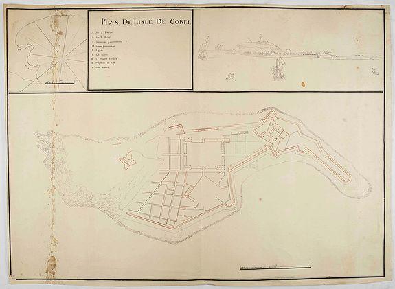 ANONYME. -  Plan de l'Isle de Goree.