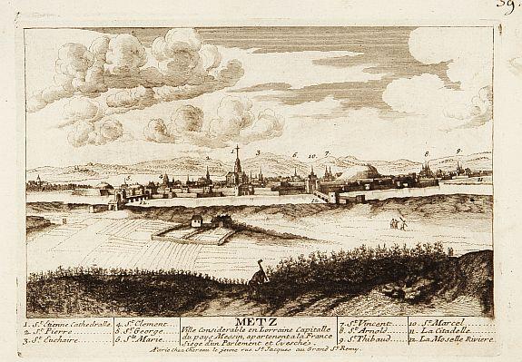 CHEREAU. -  Metz Ville consid�rable en Lorraine Capitalle du Pays Messin