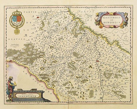 BLAEU,W. -  Gastinois et Senonois.