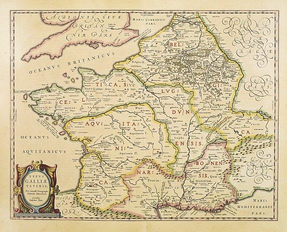 BLAEU, G. -  Typus Galliae Veteris, Ex conatib
