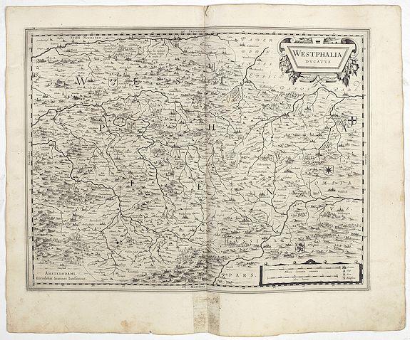 JANSSONIUS, J. -  Westphalia Ducatus.