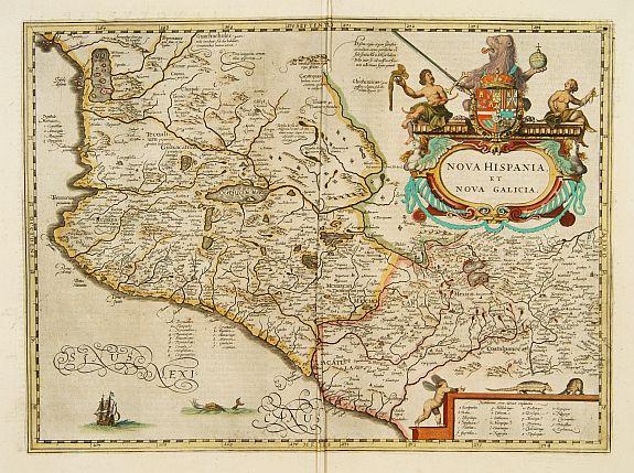 BLAEU, W. -  Nova Hispania et Nova Galicia.