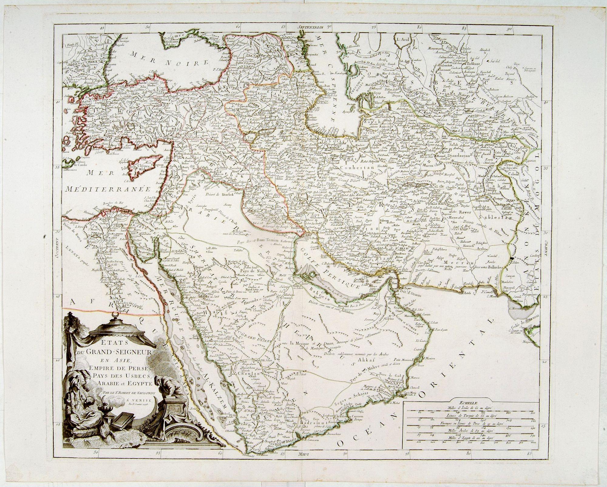 SANTINI, P. -  Etats du Grand-Seigneur en Asie, empire de Perse, pays des Usbecs, Arabie et Egypte.