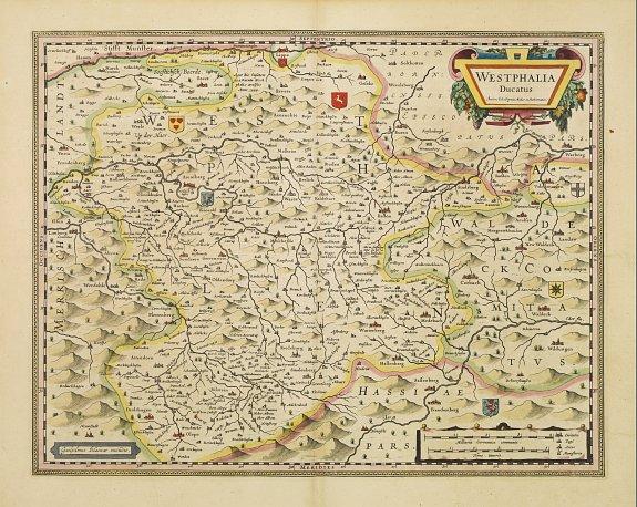 BLAEU, J. -  Westphalia Ducatus.