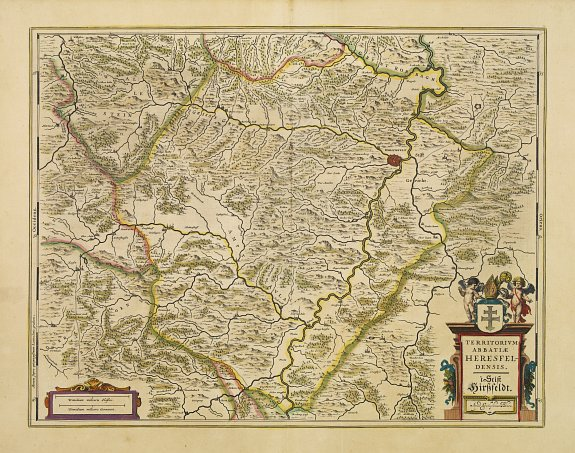 BLAEU, J. -  Territorium Abbatiae Herefeldensis - 't Stift Hirszfeldt.