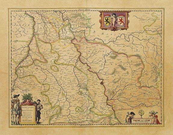 BLAEU, W. -  Juliacensis et Montensis Ducatus / De Hertoghdomen Gulick en Berghe.