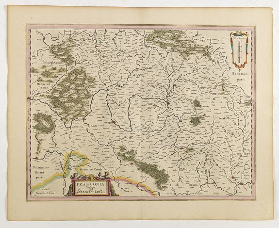 BLAEU, J.,  Franconia vulgo Franckenlandt., antique map, old maps