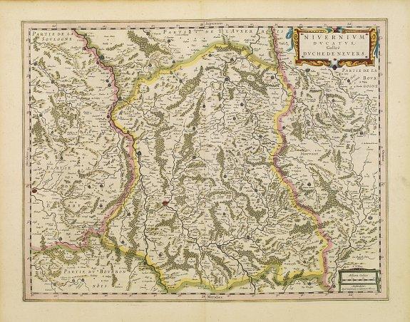 BLAEU, W. -  Nivernium Ducatus. Gallicè Duche de Nevers.