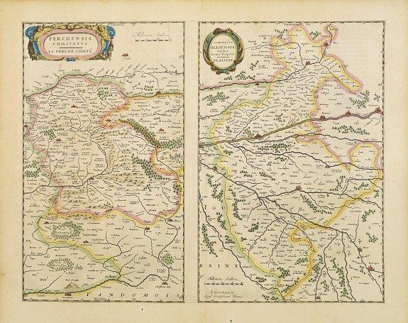 BLAEU, G. -  Perchensis comitatus. La Perche Comte/ Comitatus Blesensis.