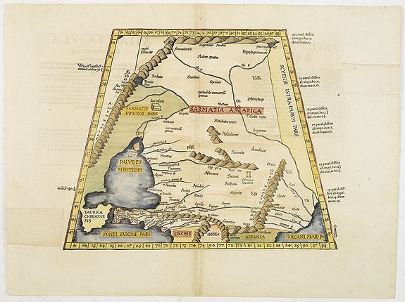 PTOLEMEE, C. / TRECHSEL, G.,  ASIAE TABULA secunda continet., antique map, old maps