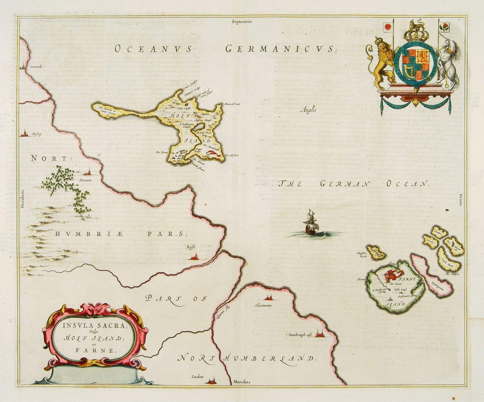 BLAEU, J. -  Insula Sacra; vulgo Holy Iland; et Farne