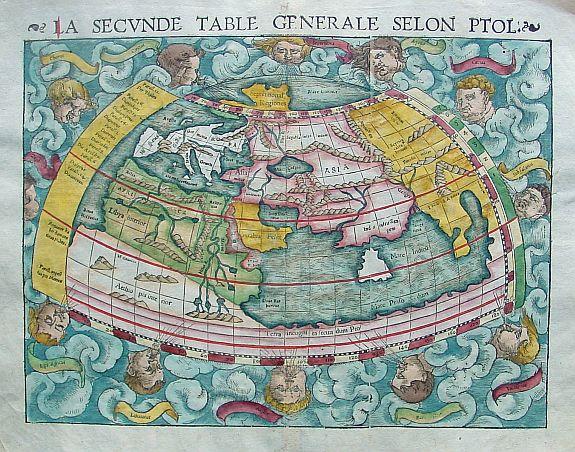 MÜNSTER, S. -  La Secunde table generale selon Ptol.