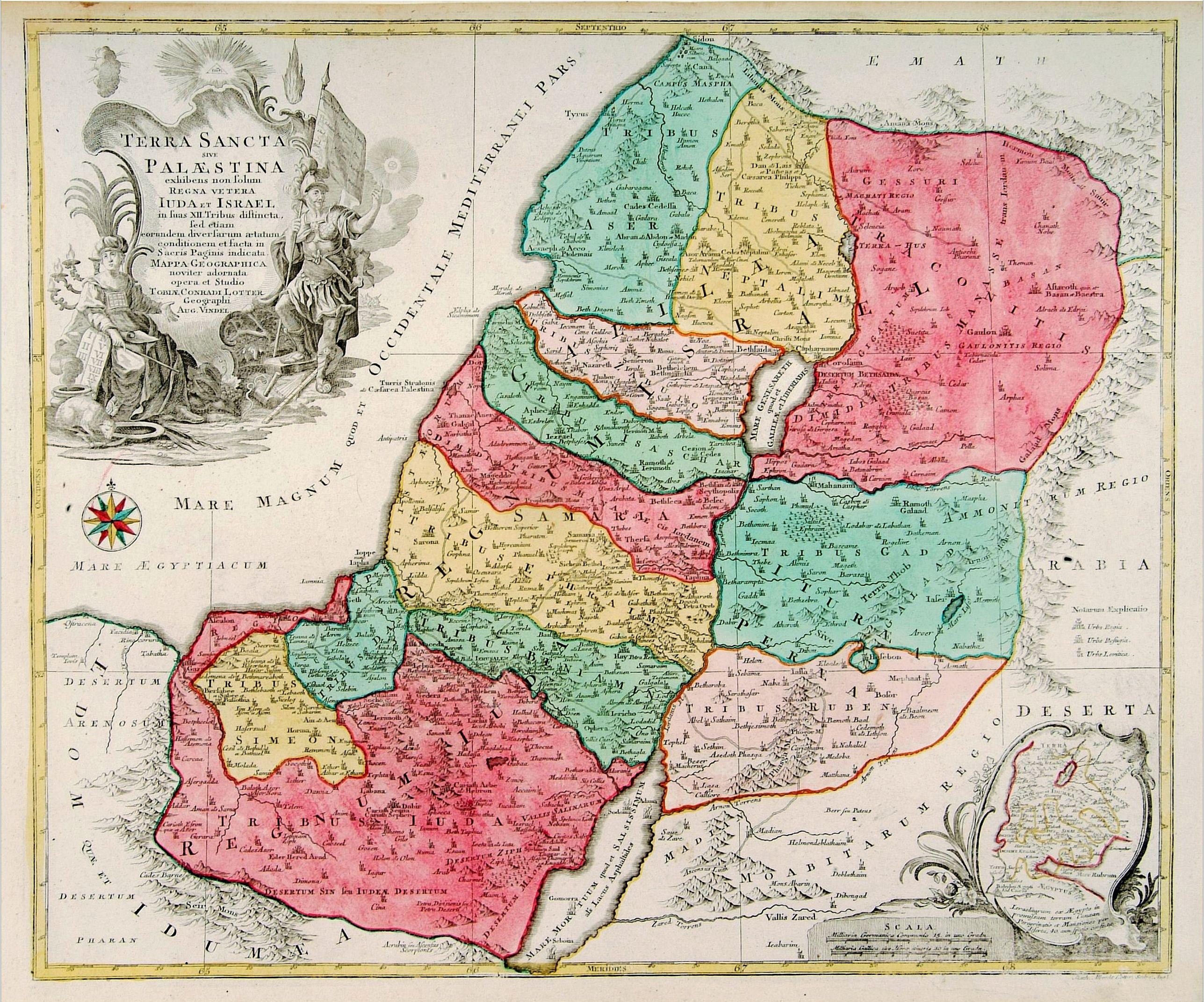 LOTTER, T. C. -  Terra Sancta sive Palaestina. . .