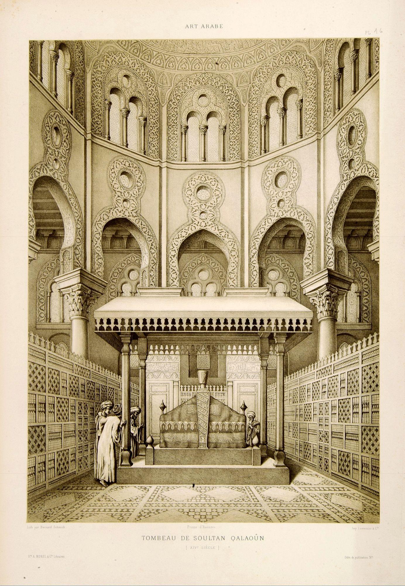 PRISSE D'AVENNES, E. -  Tombeau de Soultan Qalaoûn.