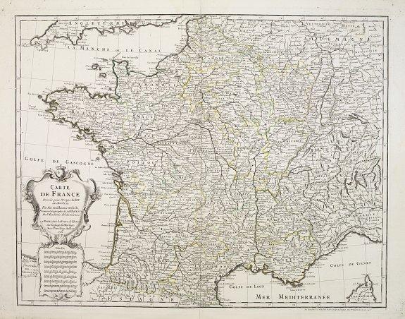 L'ISLE,G. de / BUACHE,Ph. -  Carte de France dressée pour l'Usage du Roy en Avril 1721.