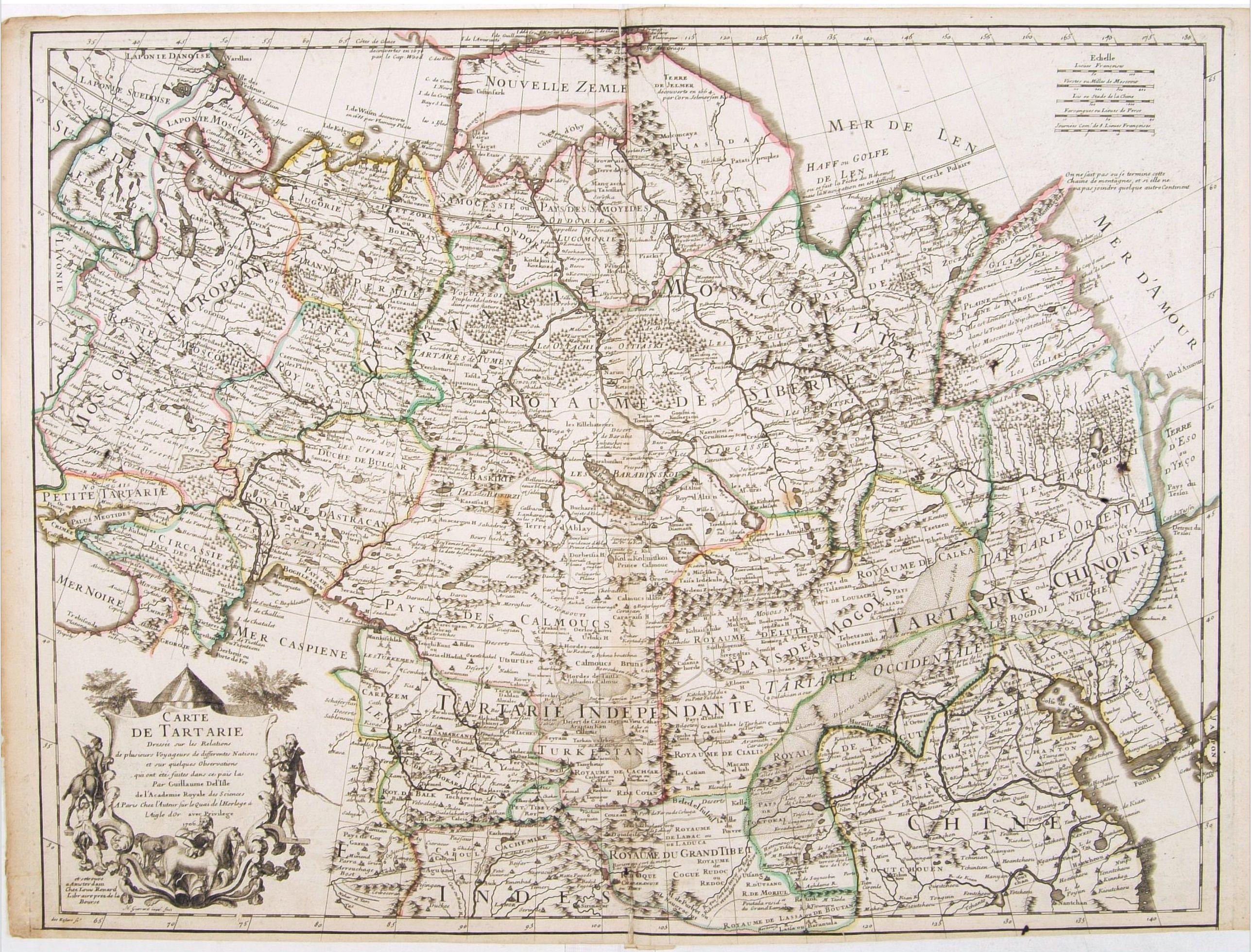 L'ISLE, G. de. / RENARD, L. -  Carte de Tartarie..