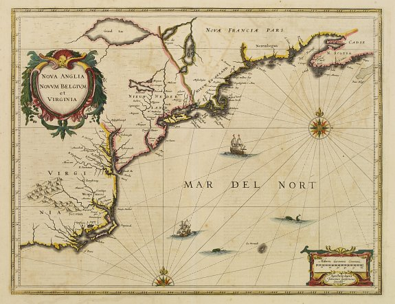 JANSSONIUS, J. - Nova Anglia Novum Belgium et Virginia.