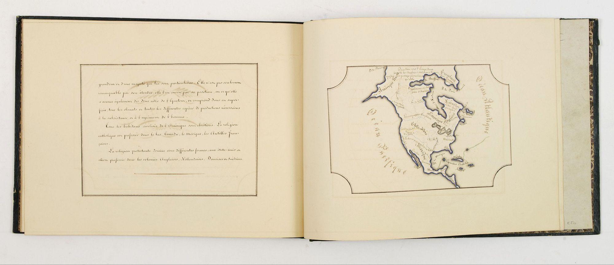 BERNARD. -  Manuscript atlas.