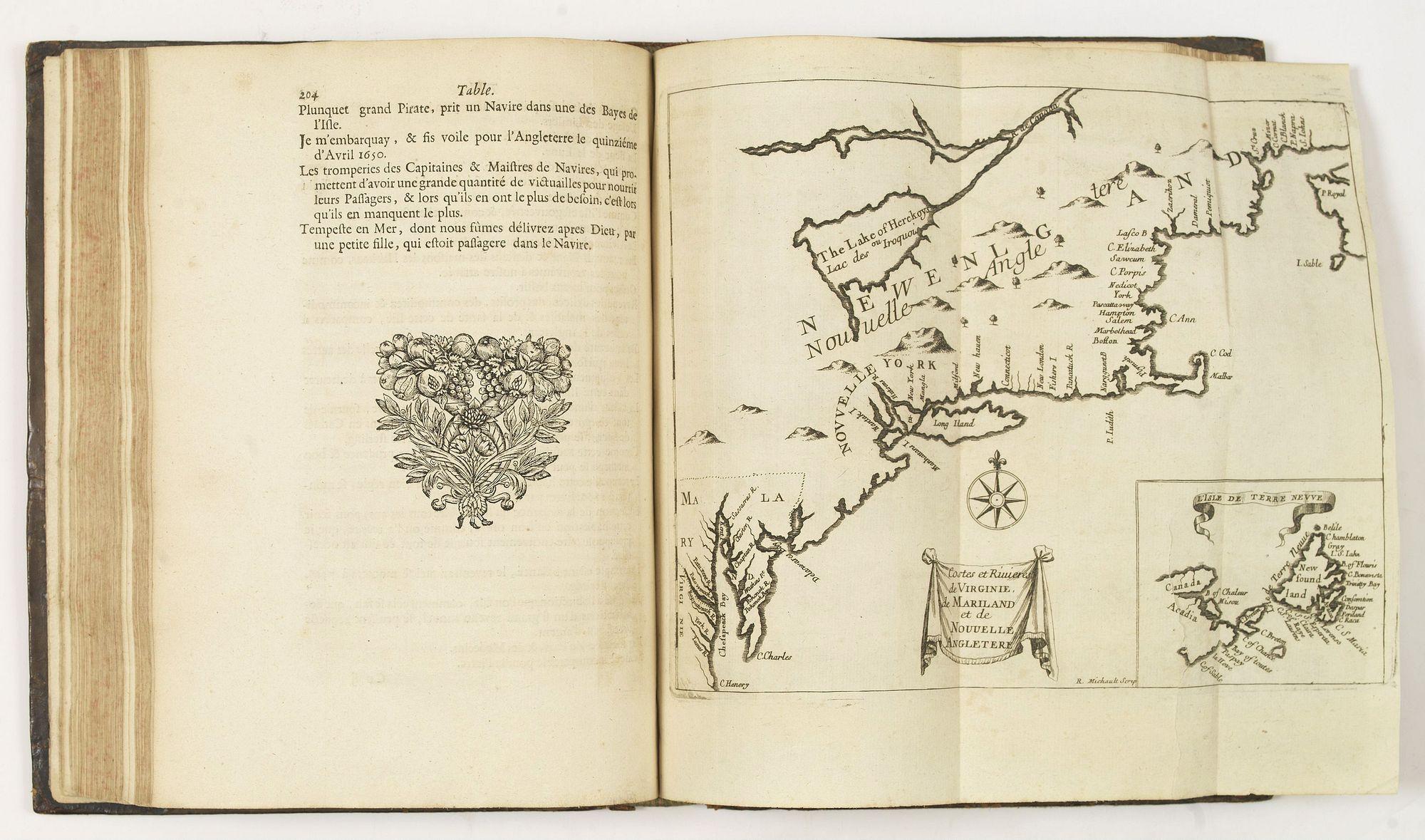 JUSTEL, H. -  Recueil de divers voyages faits en Afrique et en l'Amerique, qui n'ont point esté encore publiez.