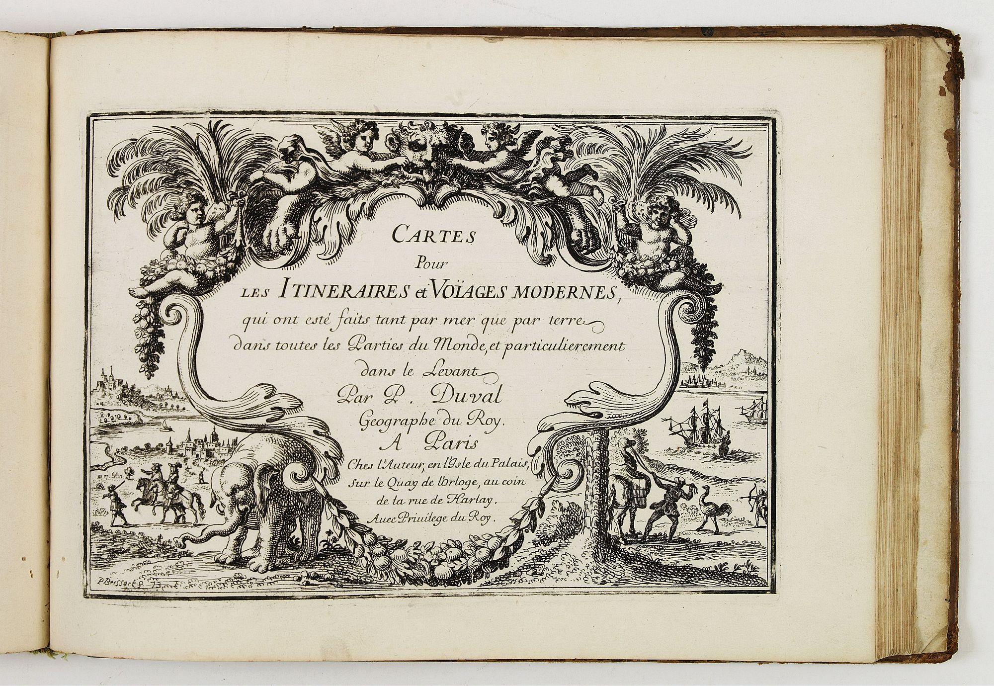 DUVAL, P. -  Diverses cartes et tables pour la géographie ancienne, pour la chronologie et pour les itinéraires et voyages modernes.