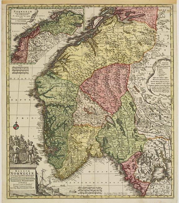 LOTTER, T. C. -  Regnum Norwegiae accurata et novissima delineatione. . .