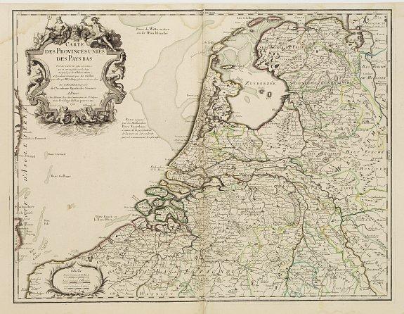 L'ISLE, G. de. -  Carte des Provinces Unies des Pays Bas.