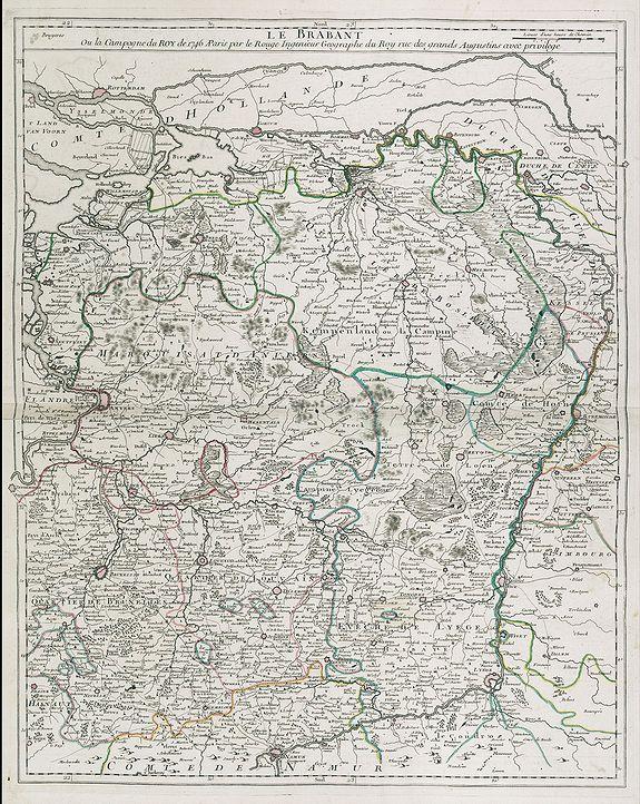 LE ROUGE, G. L. -  Le Brabant. Ou la Campagne du Roy de 1746. . .
