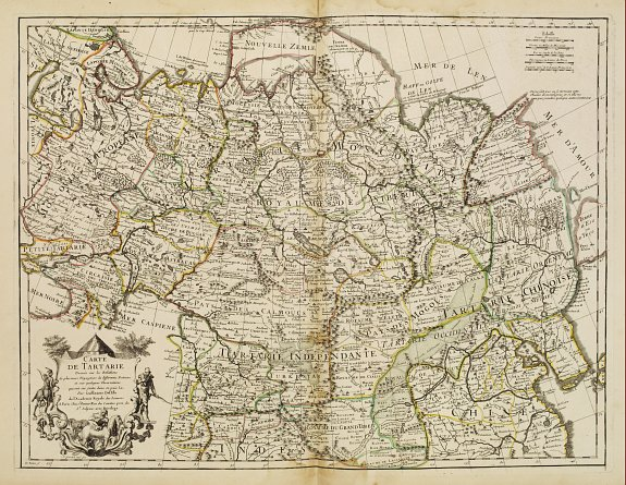 DE L'ISLE, G. - Carte de Tartarie.