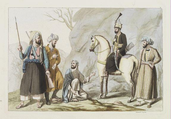 FERRARIO, G. -  [Costume plate of locals of Afganistan]