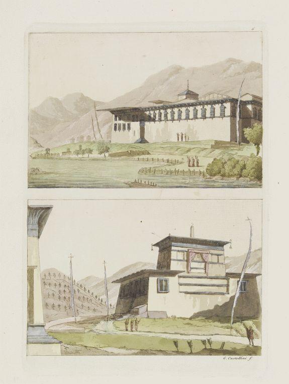 FERRARIO, G. -  [Tassisoudon Palace - Palace Lama Chassatou]