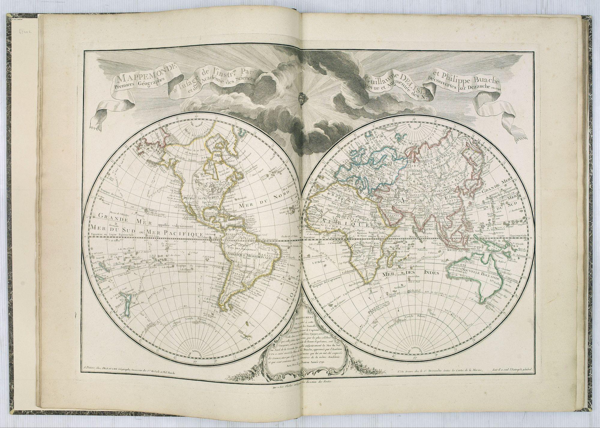 L'ISLE, G. de. / BUACHE / DEZAUCHE. -  Atlas géographique des quatre parties du monde.