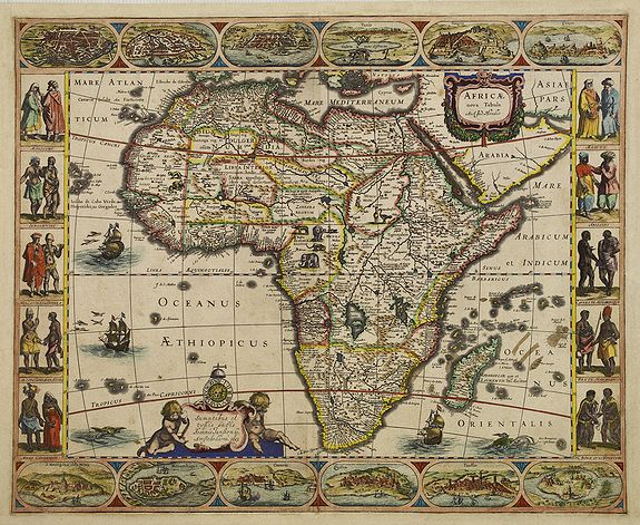 HONDIUS, J.Jr. -  Africae nova Tabula.