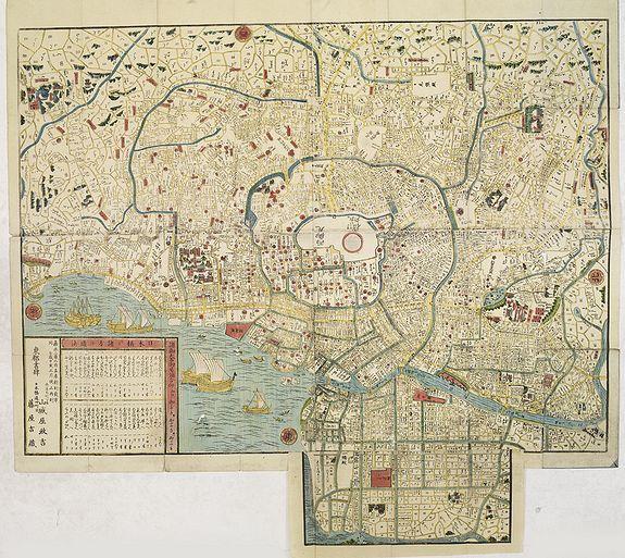 Masakichi Yamashiroya / Kichizo Fujiya. -  Bansei on Edo ezu (Plan of Edo).