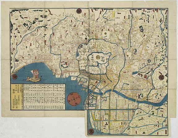 BUNZABURO YOSHIDAYA / CHUBEI ISEYA -  Bunken on-Edo o-ezu (Total plan of Edo).