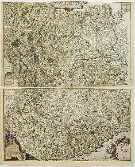 FER, N. de. - Principaute de Piemont Seigneurie de Verceil... Principauté d