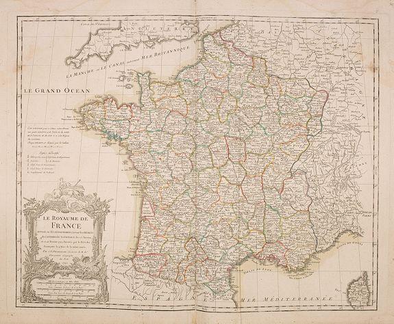 DELAMARCHE, C-E. -  Le Royaume de France divisé en 83 départemens. . .