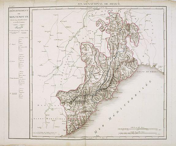 CHANLAIRE, P.G. -  Département de Montenotte Divisé en 4 arrondissemens et en 30 cantons.