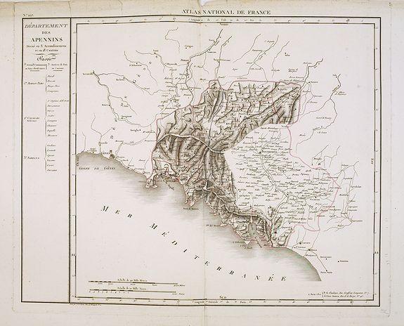 CHANLAIRE, P.G. -  Département des Apennins Divisé en 3 Arrondissemens et en 18 cantons.