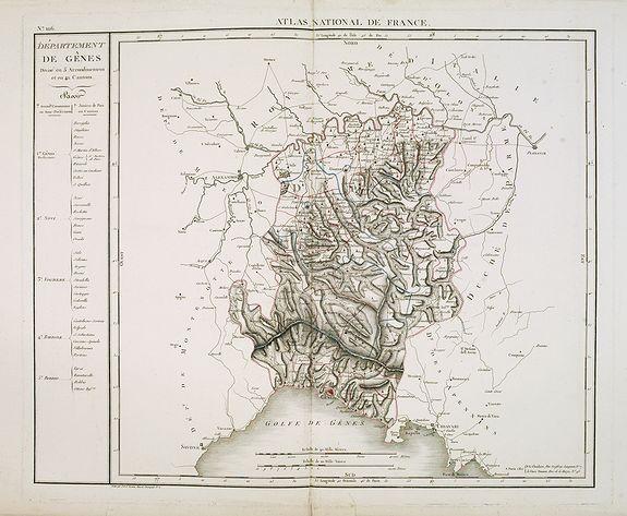 CHANLAIRE, P.G. -  Département de Gênes Divisé en 5 Arrondissemens et en 41 cantons.