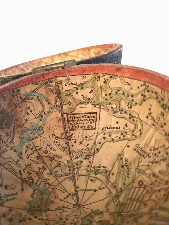 After Herman Moll - A Correct Globe with the new Discoveries. / A Correct Globe with y(e) New Constelations of Dr. Halley &c.