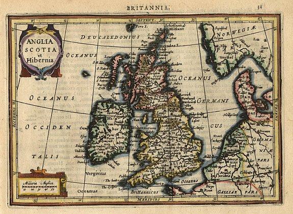 MERCATOR,G./ HONDIUS,J. - Anglia Scotia et Hibernia.