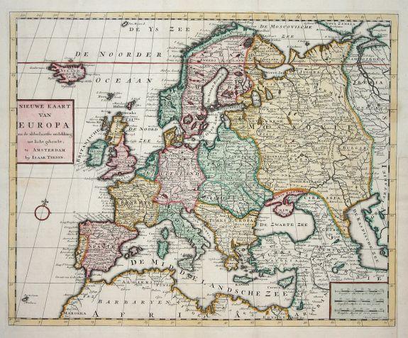 Tirion Nieuwe Kaart Van Europa