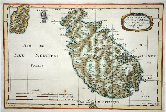 SANSON,N. - De Eilanden van Malta, Gozo, enz.