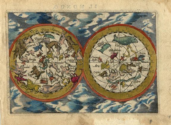 ORTELIUS,A. / VRIENTS, J.B., Untitled - Celestial Chart , antique map, old maps