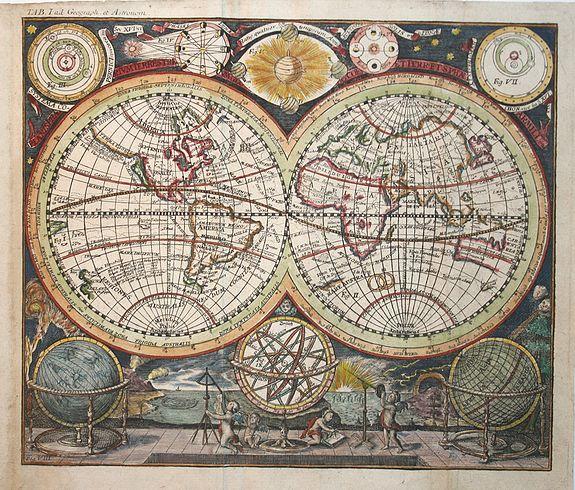 RICHTER,J.A. - Planisphaerium. Orbis terrarum