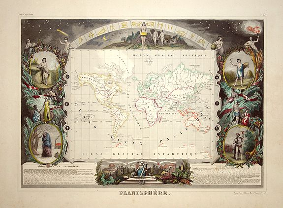 LEVASSEUR:V. - Planisphere.