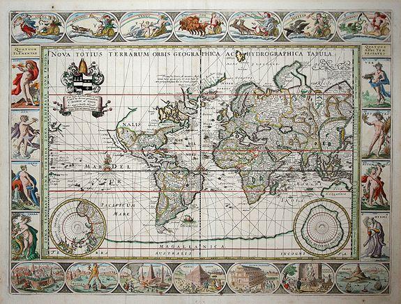 PITT, M. - Nova Totius Terrarum Orbis Geographica Ac Hydrographica Tabula.