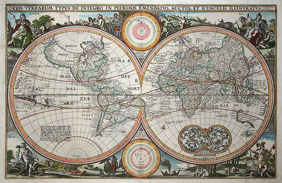 VISSCHER,N. - Orbis Terrarum Typus de Integro ..