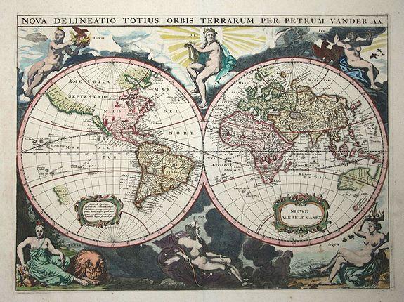 Aa, P. van der - Nova Delineatio Totius Orbis Terrarum.