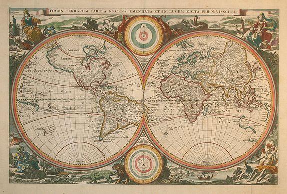 VISSCHER, N. - Orbis Terrarum Tabula Recens ..